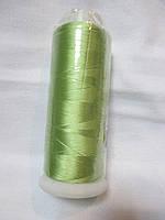 Нитки для машинної вишики 100% віскоза (100% rayon) 3000 ярдів, №352, салатова пастельна