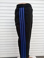 Подростковые спортивные штаны с лампасами трехнитка мальчик.