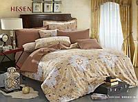 Комплект постельного белья сатин, светло-кофейный с орнаментом