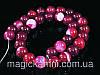 Бусы из африканского агата без замка, шар 12мм, розовый