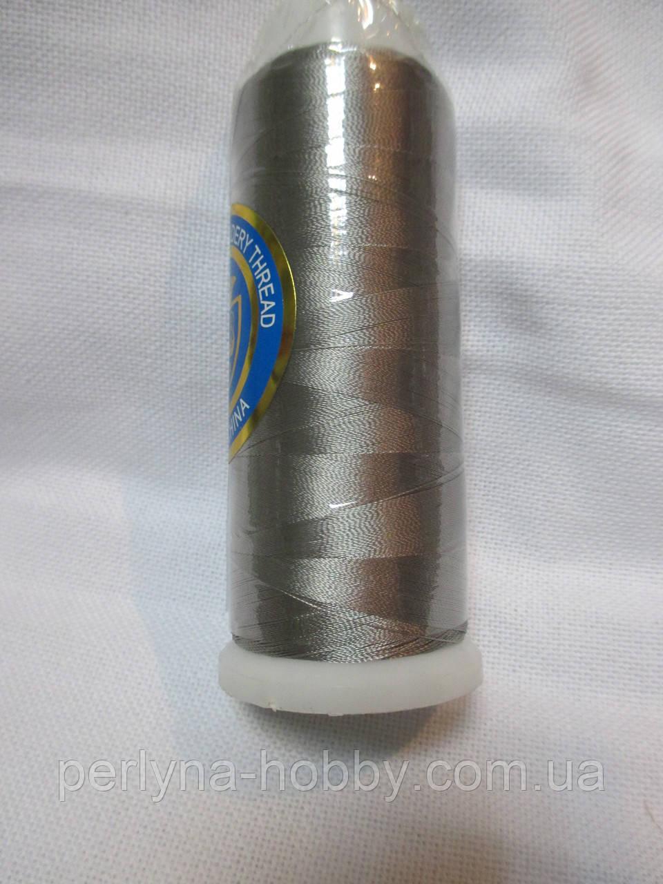 Нитки для машинної вишики 100% віскоза (100% rayon) 3000 ярдів, №427, сіра