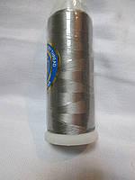 Нитки для машинной вышивки 100% вискоза (100% rayon) 3000 ярдів, №427, сіра
