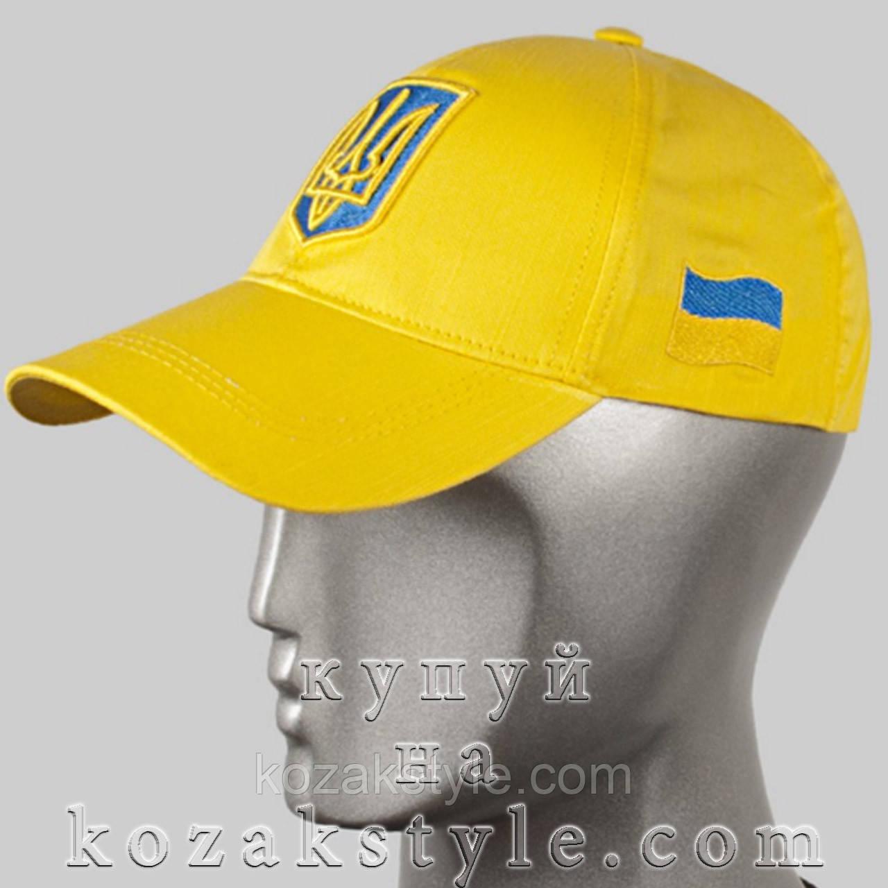 Бейсболка з українською символікою (жовта)