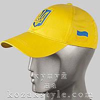 Бейсболка з українською символікою (жовта), фото 1