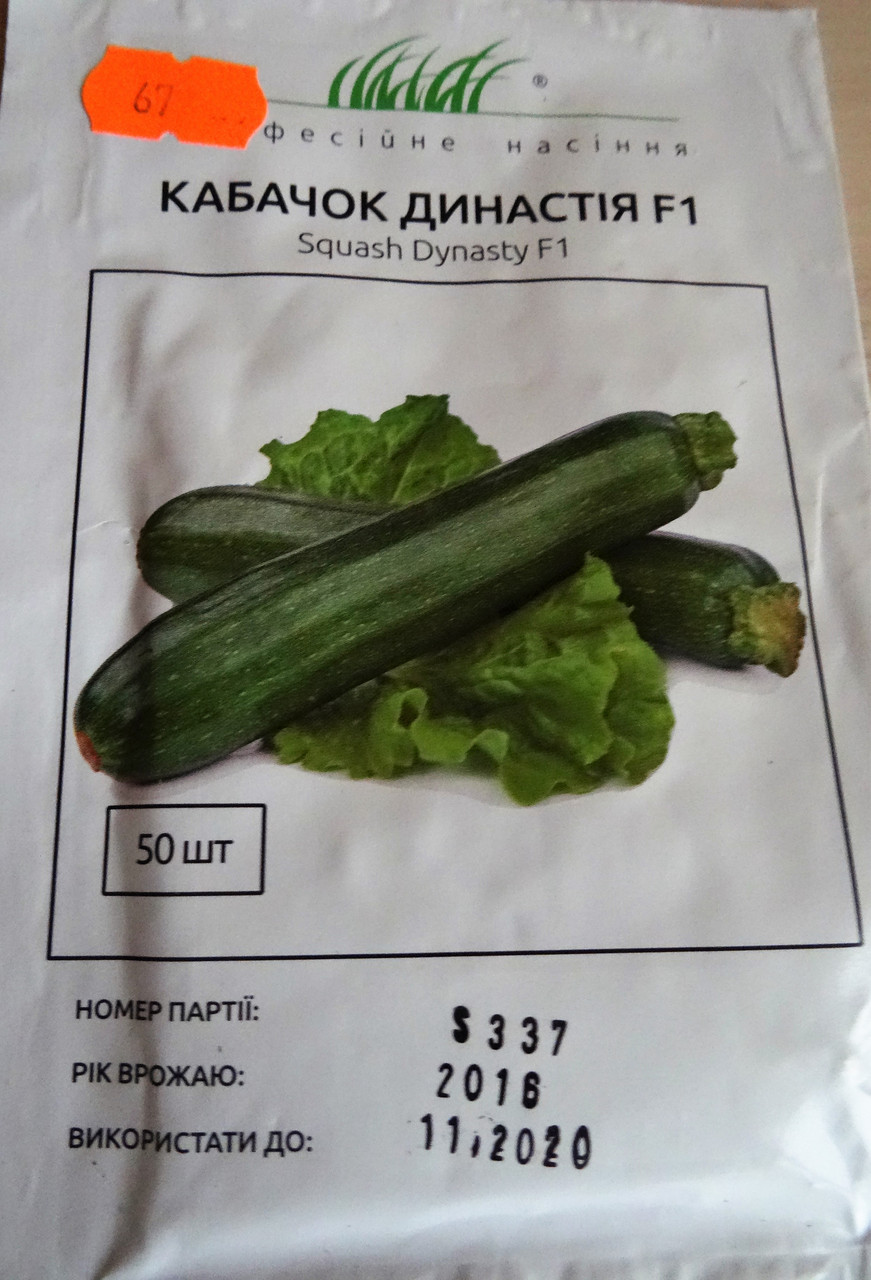 Семена кабачка Династия  F1 50 шт, фото 1