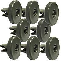 Комплект роликов колёс корзины 8шт для посудомоечной машины AEG АЕГ, Electrolux Электролюкс, Zanussi Занусси 50286965004