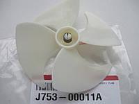 Лопасти вентилятора d (вал)=3 мм., D (крыл)=110 мм. для холодильника ЛЖ LG J753-00011A, 5901JA1013A