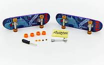 Фінгерборд-міні скейт SK-12011 (2фінгерборда,4зап.колеса,1ключ, 1викр,2гайки, пластик,метал)