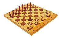 Шахматы, шашки, нарды 3 в 1 деревянные 49 х 49 см
