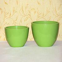 Салатовые горшки для комнатных цветов, пара, пр-во Германия