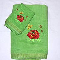 Набор полотенец 2 шт. зеленого цвета