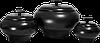 Кастрюля чугунок печной V0,7 л с крышкой