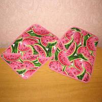 Пара текстильных подставок-салфеток на стол