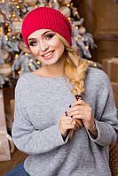 Шапка млиновая. Шапка зимняя. Шапка женская. Теплая зимняя шапка. Женская шапка.