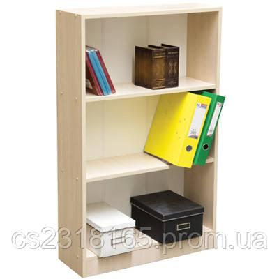 Этажерка книжная 112х22х63 см,3 полки, 4 цвета (дуб молочный, белый, венге, дуб сонома)