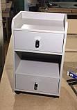 Тумба косметологічна пересувна, з ящиками і відкритою нішею V123, фото 3