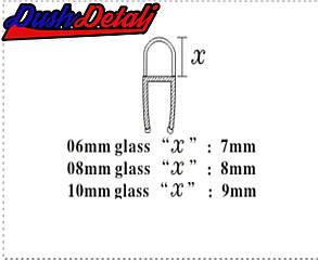 Стык для двери душевой кабины, боковой, силиконовый ( ФС07 ) , фото 2