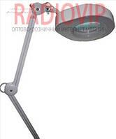 Лупа-лампа с LED подсветкой на струбцине, диопт 5Х, диам-130мм 90LED 7W 8608L