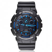 Часы мужские наручные кварцевые  Сasio G-Shock Black Blue 2 реплика