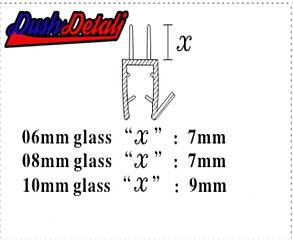 Брызговик для двери душевой кабины, нижний ( ФС06Е ), фото 2
