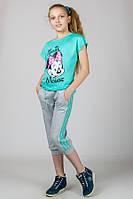 "Трикотажная футболка для девочки ""Minnie Mouse"" (Мята)"