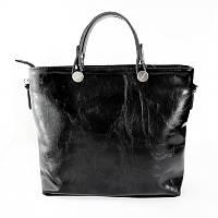 Деловая черная сумка фактура масло модная оригинальная форма