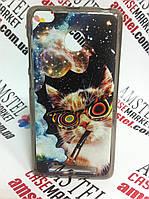 Эксклюзивный силиконовый чехол бампер для Xiaomi Redmi 3 Pro / 3s Pro с картинкой Кот с трубкой