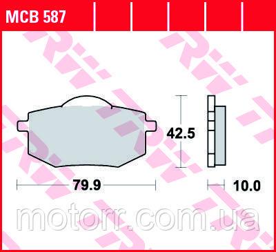 Тормозные колодки TRW / LUCAS MCB587