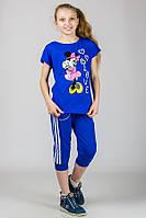 """Трикотажная футболка для девочки """"Minnie Mouse"""" (Синий)"""