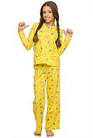 """Детская пижама """"Бемби"""" для девочки (желтый)"""