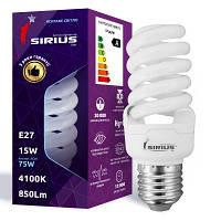 Б-лампа КЛЛ 1-CFL -15-121 Е 27 SIRIUS