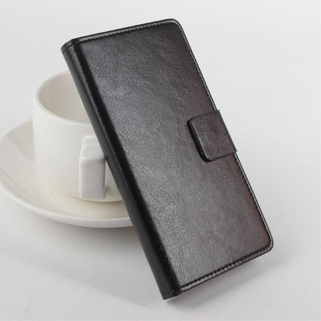 чехол книжка на lenovo a5000 черный