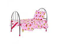 """Детская кроватка с покрывалом и подушкой """"Пчелка"""": 74х26х49см"""