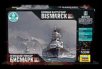 "Сборная модель Zvezda (1:1200) Немецкий линкор ""Бисмарк"""