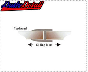 Соединительная полоса для стекла душевой кабины Н - образная  ( ФСН03 ), фото 2