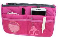 Органайзер-косметичка для сумки Bag-in-Bag малиновый
