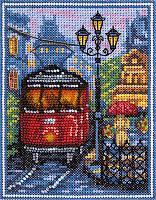 """Набор для вышивки крестом и бисером """"Panna"""" Пражский трамвайчик ГМ-1780"""