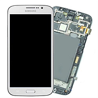 Дисплей (LCD) Samsung i9200 with touch screen white Galaxy Mega + Frame original