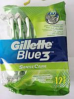Верстат чоловічий одноразовий Gillette Blue 3 Sensitive ( Жиллетт Блю 3 Сенсетів) 12 шт., фото 1