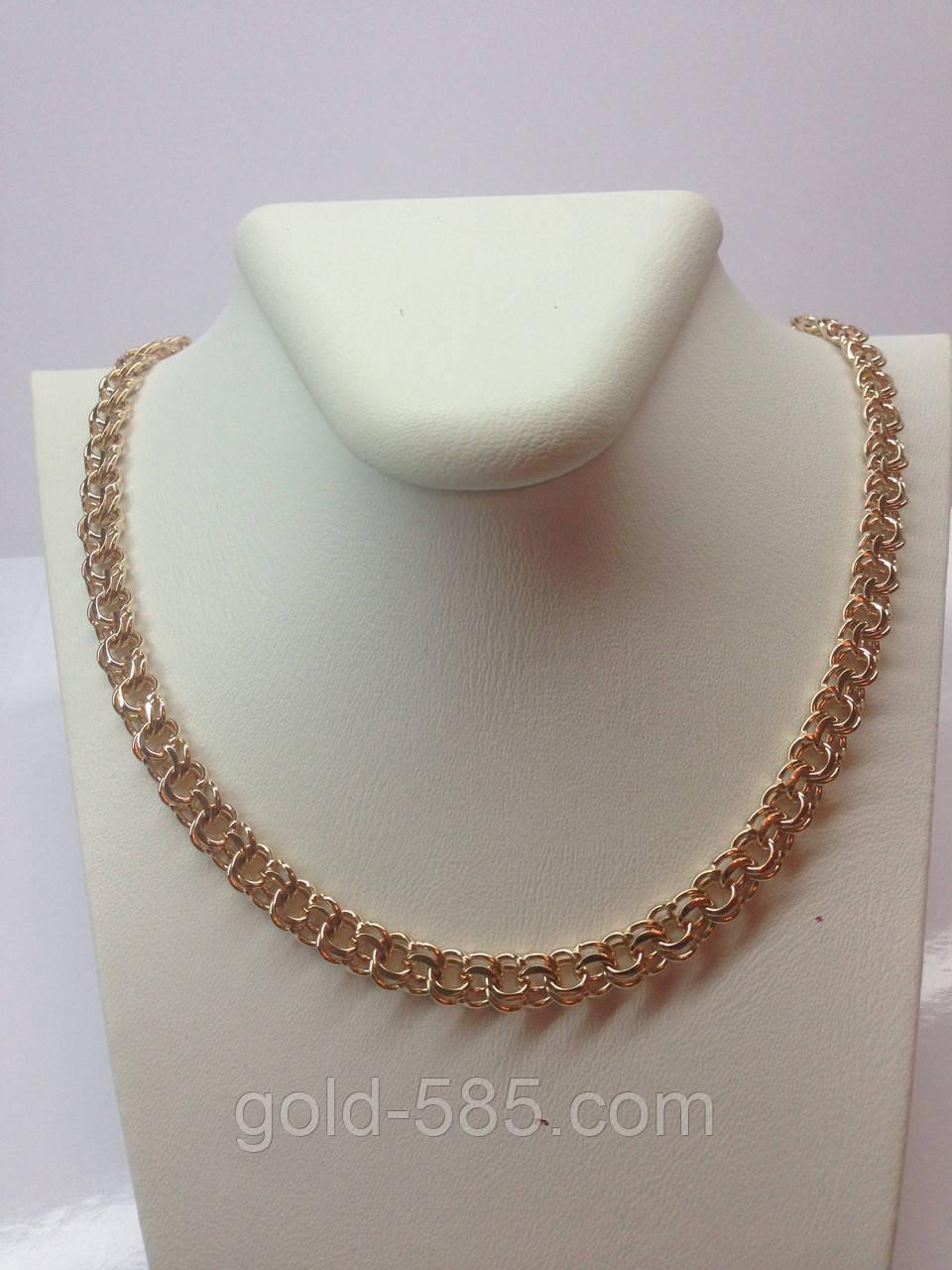 ffd61ad0ff6 Увесистая золотая цепочка плетения бисмарк 585* пробы - Мастерская  ювелирных украшений «GOLD-585