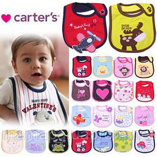 Слюнявчики Carter's непромокаемые на липучке для детей