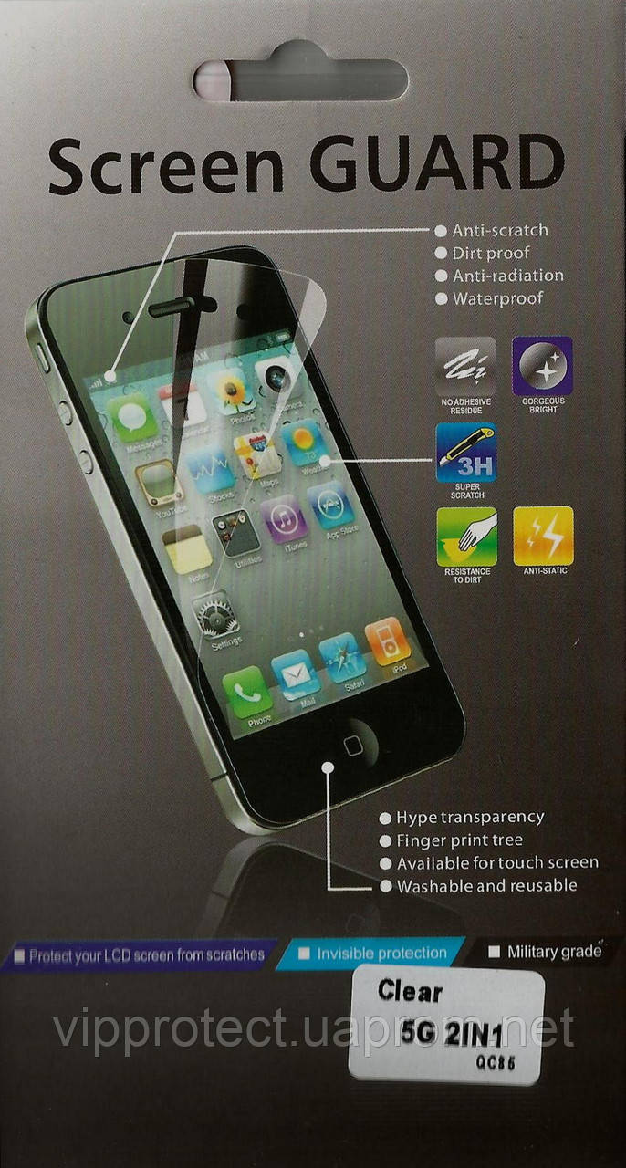 Apple iPhone 5G 2in1, глянцевая пленка