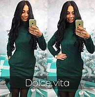Стильное замшевое платье с карманами (арт. 436979740)