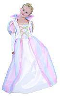 """Костюм """"Принцесса"""", S/M/L (110-140см), платье цветное с воротником,"""
