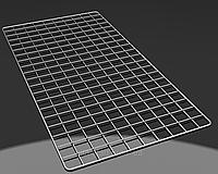 Хромированная торговая сетка 1450/750мм ячейка 50мм