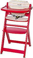 Стул для кормления деревянный  TIMBA красный с подушкой Red Dots Safety 1st  (27608820)