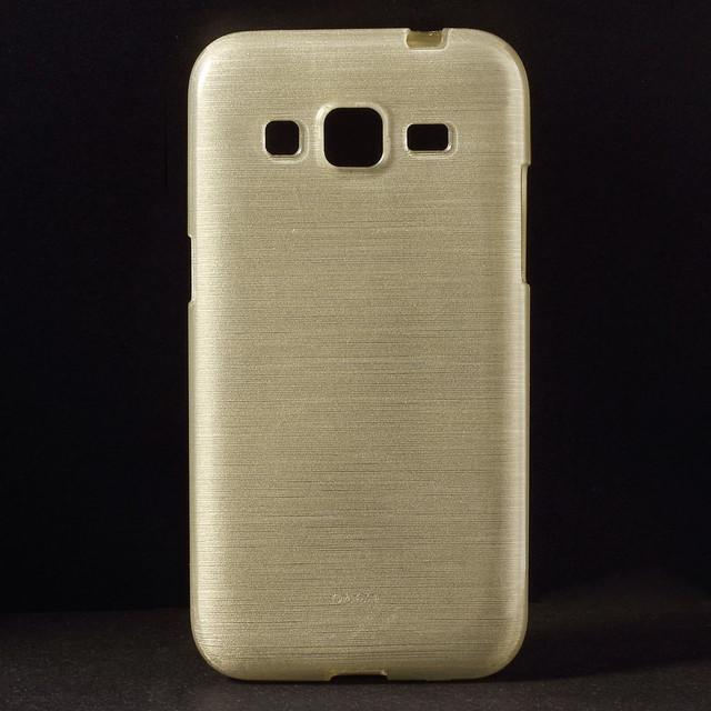 силиконовый чехол samsung g360 золотистый