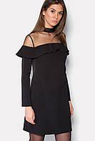 """Платье """"VIKS"""" черное зима, фото 1"""