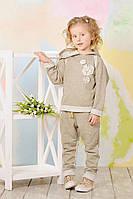 Костюм трикотажный с люрексом для девочки (золото) 104
