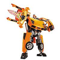 Игрушка трансформер 50140. Машина-трансформер, 1:18, Lamborghini, +звук, +свет, открываются дверцы и капот
